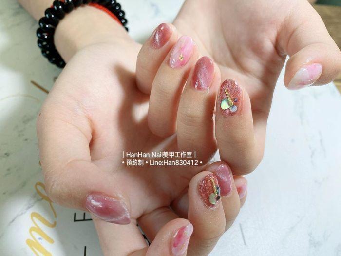 指甲转新衣!10张梦幻粉色猫眼石美甲!仙女最爱!插图(7)