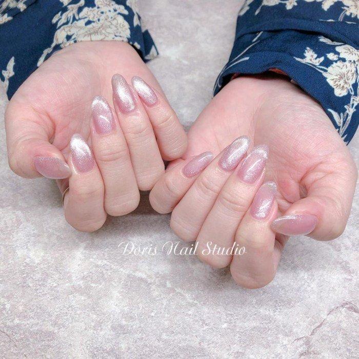 指甲转新衣!10张梦幻粉色猫眼石美甲!仙女最爱!插图(6)